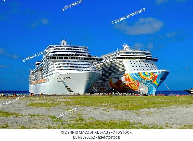 Cruising Southern Caribbean on the Norwegian Getaway at St. Thomas Virgin Island cruise ship
