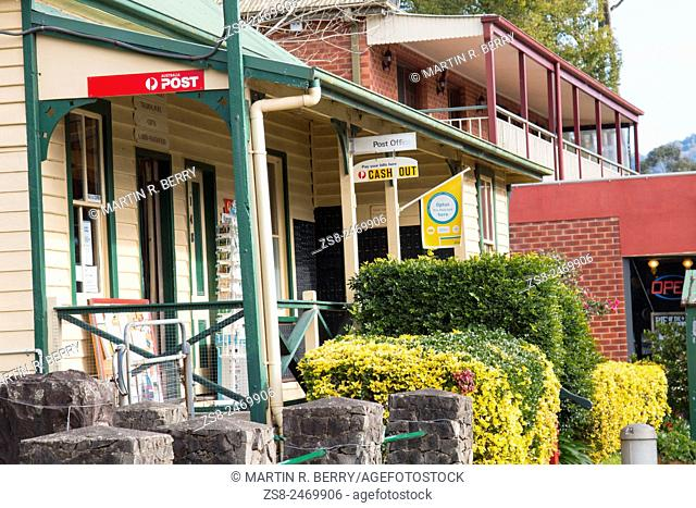 Kangaroo Valley Township in the Southern Highlands of New South Wales Australia