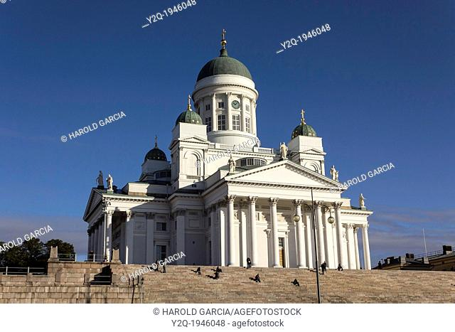 St. Nicholas cathedral. Evangelical Lutheran cathedral of the Diocese of Helsinki, located in the centre of Helsinki, Finland