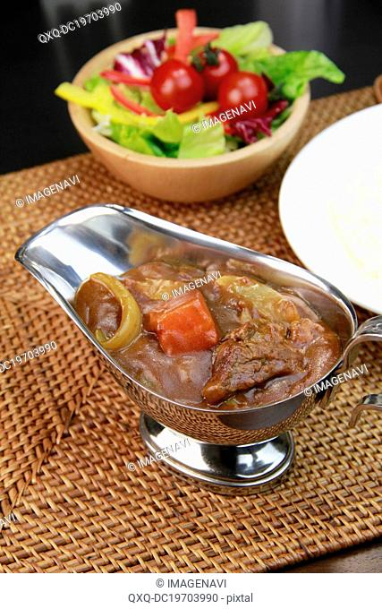 Bowl of beef curry