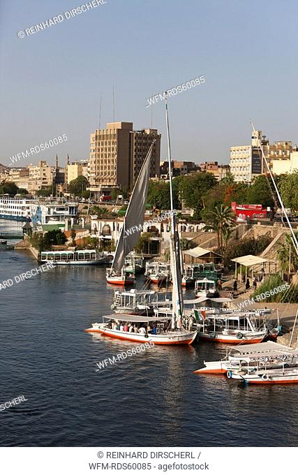 Corniche of Aswan, Aswan, Egypt
