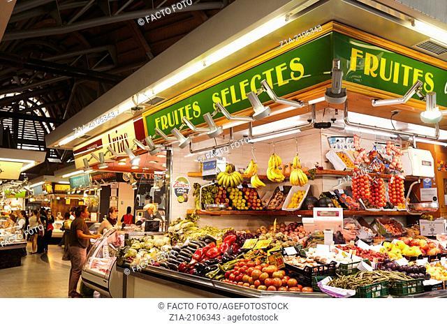 Santa Caterina Market at the Gothic Quarter. Barcelona. Catalonia. Spain