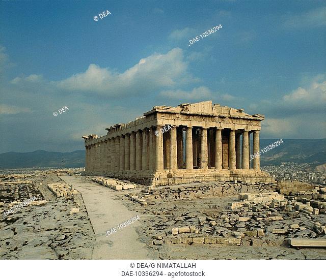The Parthenon, Acropolis of Athens (Unesco World Heritage List, 1987), Greece. Greek civilisation, 5th century BC