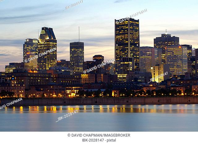Skyline as seen from Parc de la Cité-du-Havre, Montreal, Quebec, Canada