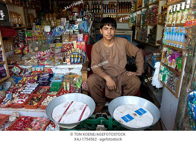 shopkeeper in kabul, Afghanistan