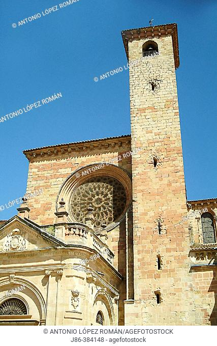 Cistercian cathedral. (XIIth-XIIIth centuries). The Route of Don Quixote. Sigüenza. Guadalajara. Spain