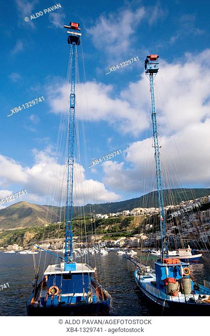 Swordfish fishing boats, Chianalea, Scilla, Calabria, Italy