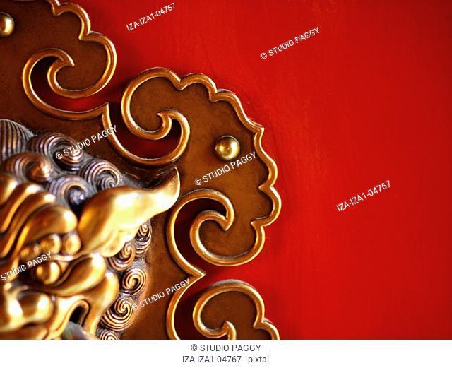 Close-up of an ornate doorknocker