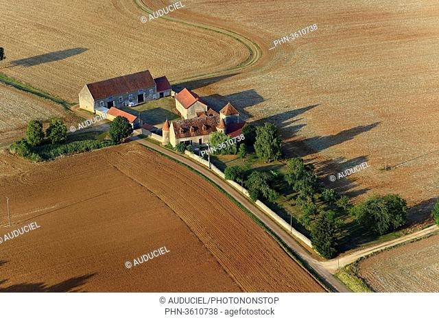 Europe, France, Burgundy farm in the countryside near Donzy in the Nievre
