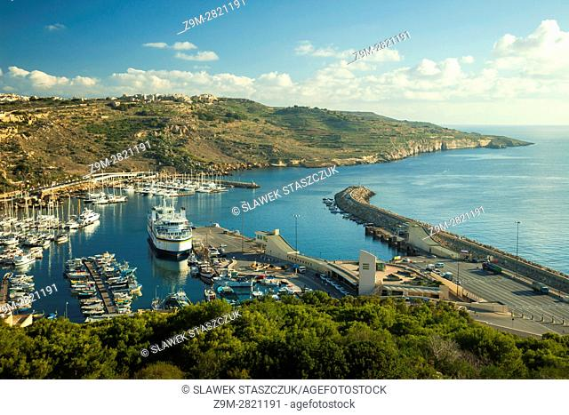 A view on Mgarr harbour, Gozo, Malta