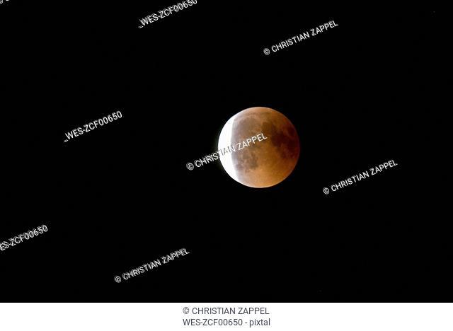 Germany, Rosenheim, lunar eclipse