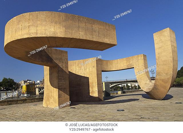 Monument to Tolerance (by Eduardo Chillida), Seville, Region of Andalusia, Spain, Europe