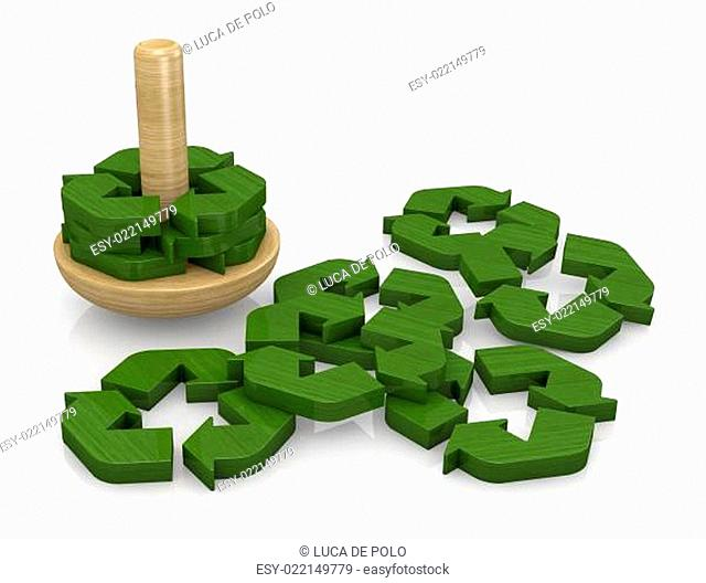 symbol of recycling as a toy
