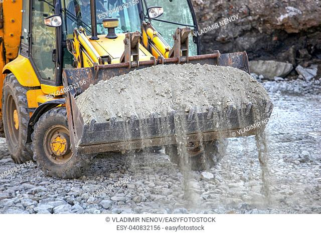 Excavator at a construction site