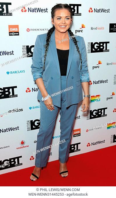 Red Carpet Arrivals for British LGBT Awards Featuring: Scarlett Moffatt Where: London, United Kingdom When: 12 May 2017 Credit: Phil Lewis/WENN.com