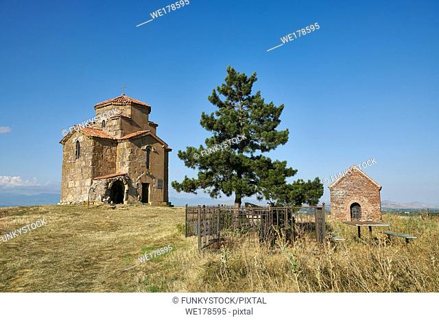 "Pictures and images of St Giorgi (St George) Church, Samtsevrisi, Georgia (country). A perfect example of a 7th century Byzantine ""Tree Cross"" church with a..."