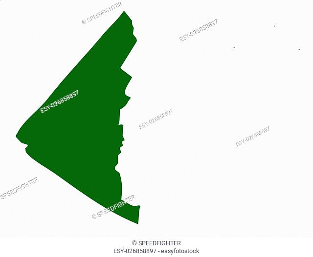 Map of Yukon province or territory in Canada, isolated on white background