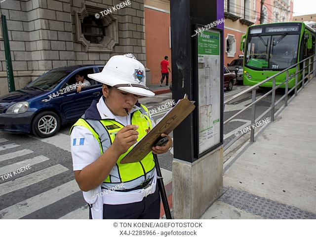 traffic police officer in guatamala