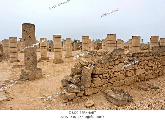 Arabia, Arabian peninsula, Sultanate of Oman, Dhofar, the south of Oman, Salalah, archaeological park and museum of Al-Balid