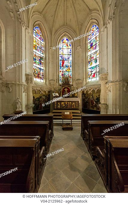 Inside the chapel within the beautiful Château de Chaumont-sur-Loire (Chaumont Castle) in the Loire Valley, Loir-et-Cher, France, Europe