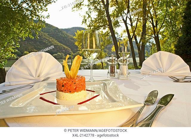 food fish tartar restaurant Heinzle Wachau Austria