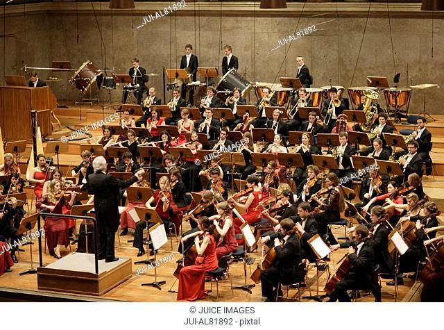 Youth orchestra, Herkulessaal, Residenz, Munchen, Bavaria, Germany
