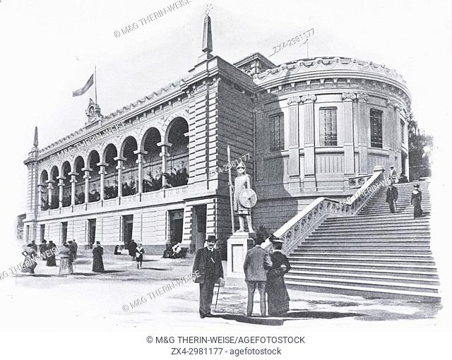 Mexican Pavilion, Universal Exhibition 1900 in Paris, Picture from the French weekly newspaper l'Illustration, 29th September 1900