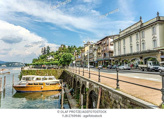Waterfront of Stresa at Lago Maggiore, Piemont, Italy