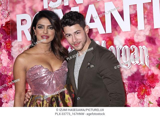 """Priyanka Chopra, Nick Jonas 02/11/2019 The World Premiere of """"""""Isn't It Romantic"""""""" held at the Theatre at Ace Hotel in Los Angeles"""