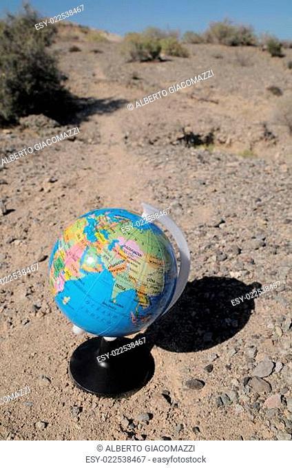 Globe in the desert
