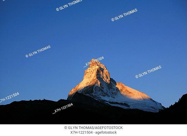 Matterhorn mountain at dawn