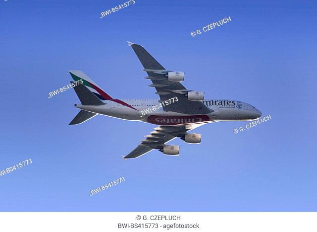 Airbus A380 approach for a landing, Germany