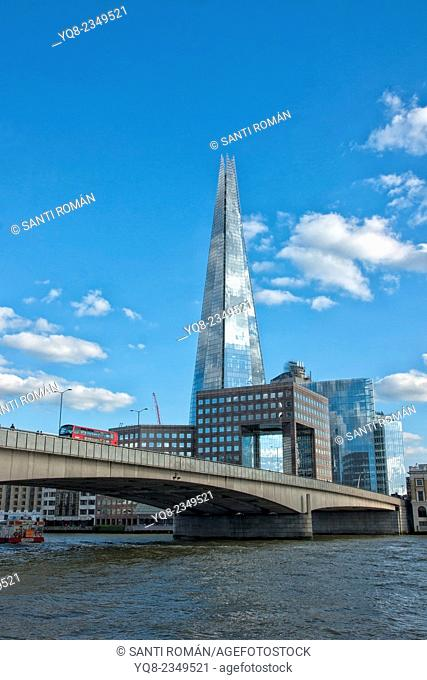 England, London, London City Hall, The Shard, and More London buildings from the Thames river