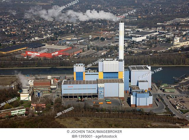 Community incinerator at the Rhein-Herne Canal, GMVA GmbH, Oberhausen, North Rhine-Westphalia, Germany, Europe