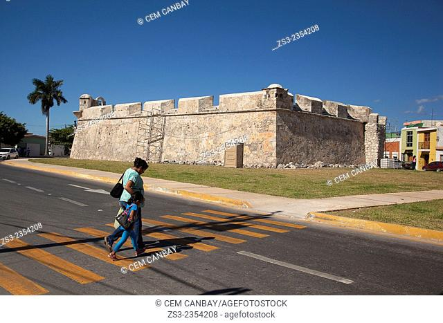 Baluerte de Sn. Juan, historic fort at the center of Campeche, Campeche, Yucatan, Mexico, Central America