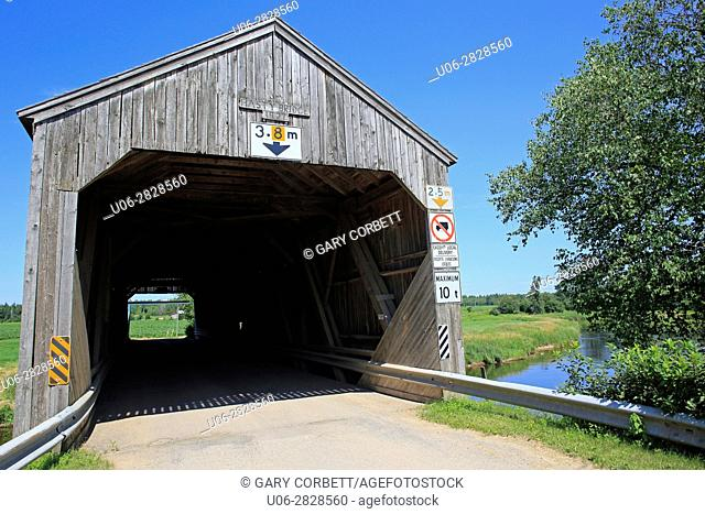 Hasty covered bridge, new Brunswick, Canada