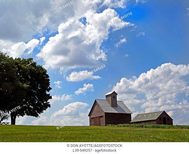 Farmhouse in , Peoria. Illinois. USA