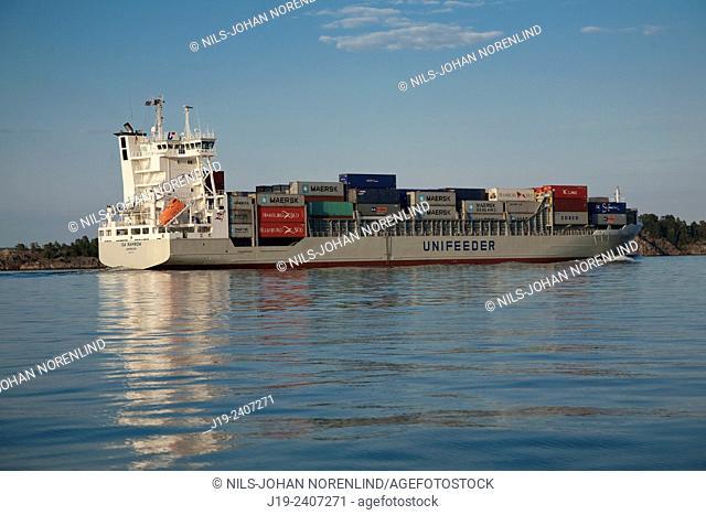 The archipelago Skärmaräng, Stockholm Sweden (cargo boat)