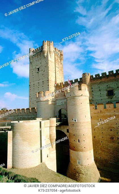 La Mota Castle, built 15th century. Medina del Campo. Valladolid province. Spain