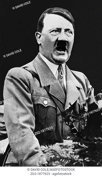 Adolf Hitler - wartime image of the German Leader -  Adolf Hitler was an Austrian-born German politician and the leader of the Nazi Party  From the archives of...