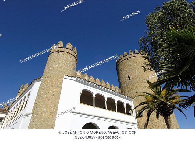 Parador de turismo, old Duques de Feria Alcázar. XV-XVIth centuries. Zafra. Badajoz province. Extremadura. Spain