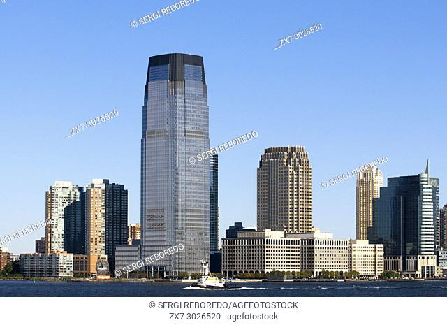 Skyline of Exchange Place at Jersey City, New Jersey, New York USA