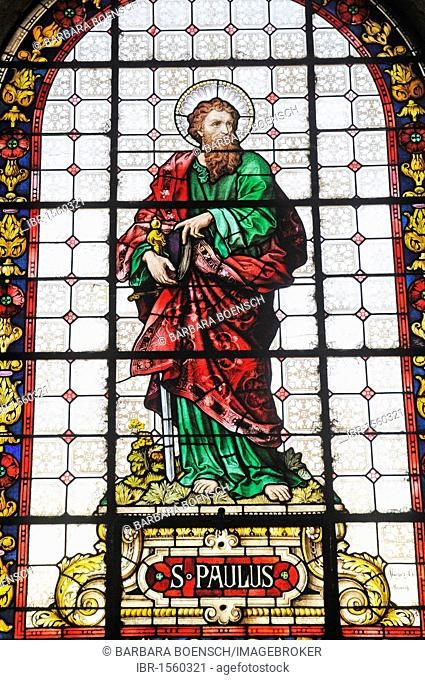 Saint Paul, saint, stained glass windows, cathedral, La Serena, Norte Chico, northern Chile, Chile, South America