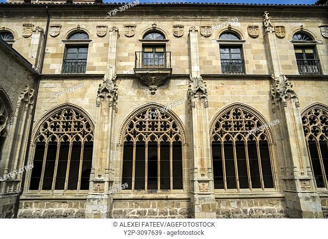 Benedictine monastery of San Salvador de Oña of 11th century in small town Oña, Castile and Leon, Spain