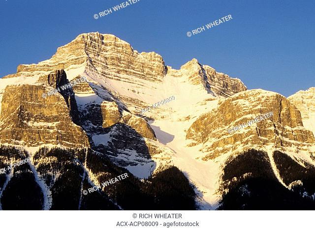Mt. Rundle, Canadian Rockies, Canmore, Alberta, Canada