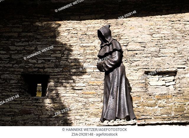 Faceless Monk statue in Tallinn, Estonia