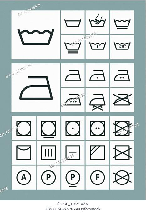 Washing instruction Stock Photos and Images | age fotostock