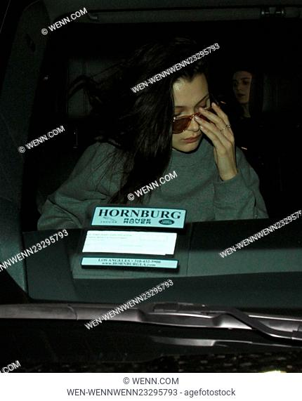 Model Bella Hadid arrives on a flight to Los Angeles International Airport (LAX) Featuring: Bella Hadid Where: Los Angeles, California