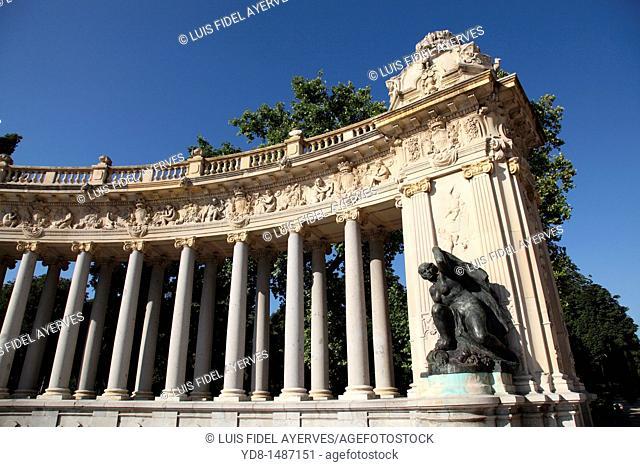 Monument to the Retiro Park, Madrid, Spain