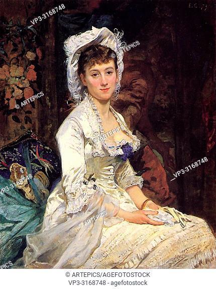 Gonzales Eva - Portrait of a Woman in White